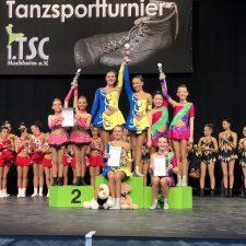 Erfolgreiche Tänzerinnen der TG Freiberg
